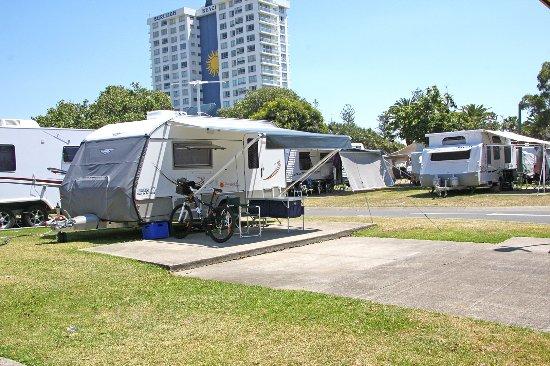 Burleigh Beach Tourist Park: Burleigh Beach popular caravan sites