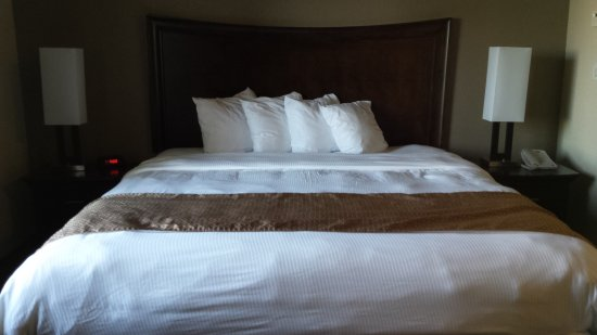 MainStay Suites Winnipeg: Comfy King-size bed with an incredibly comfortable mattress