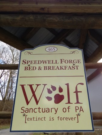 Wolf Sanctuary of PA: Entrance Sign