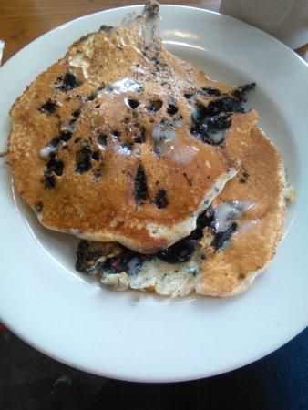 Machias, ME: Blueberry pancakes medium stack