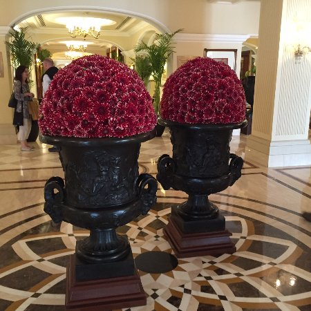 The Imperial Hotel: Every flower arrangement was amazing. These two were close to 6 feet tall!