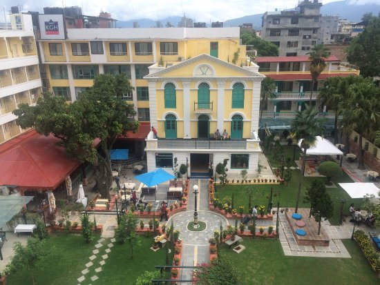 Kathmandu Guest House: Blick vom Balkon