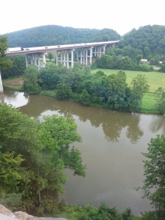 Max Meadows, VA: View from the Shot Tower towards New River