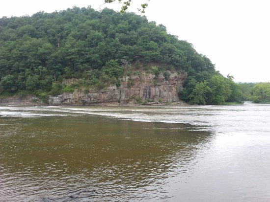 Max Meadows, VA: View from the campground along the river