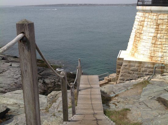 Castle Hill Lighthouse : Wooden stairs to the light house.