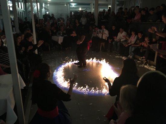 East Fremantle, Australia: fire dancing