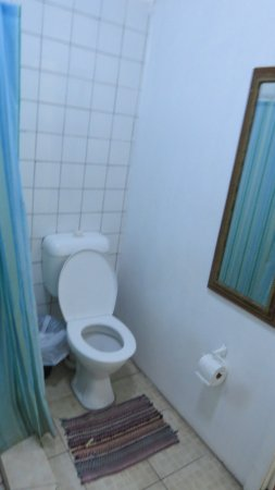Upolu, Samoa: toilet - (not too bad) with a smelly damp mat