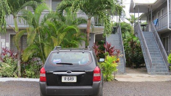 Upolu, Samoa: Outside our room (top floor)