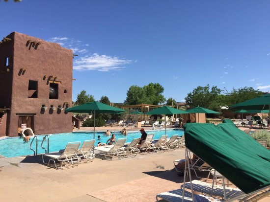 Santa Ana Pueblo, NM: family pool with slide, water was too cold for me