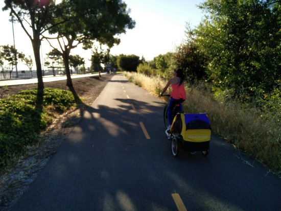 Guadalupe River Trail: Near airport part