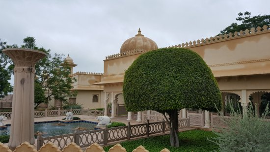 The Oberoi Udaivilas: The Udaivilas gardner is doing a world class job