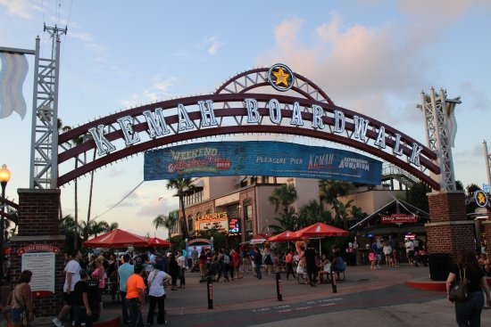 Kemah, TX: Entrance to the boardwalk