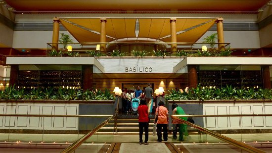 The Main Entrance to Basilico on the 2nd floor, Regent Singapore