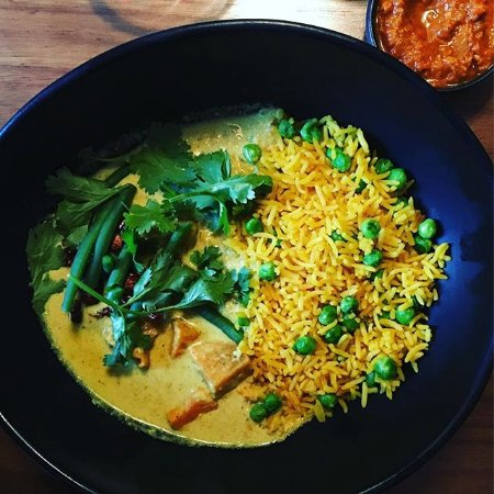 Mildreds: sri lankan rice with curry and vegetables