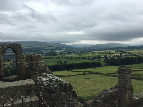 Bolton Castle: View from Tower across Wensleydale.