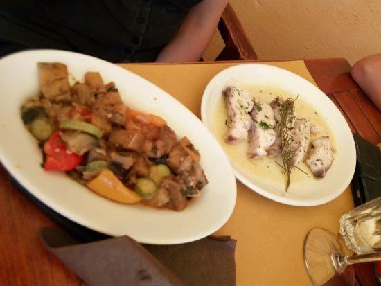 Lampuga fish with lovely veg - Picture of Ristorante Bagni Al ...