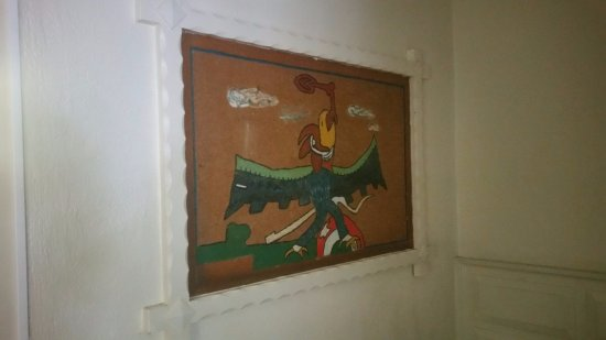 San Nicolas Hotel and Casino: Very old, out dated and falling apart artwork
