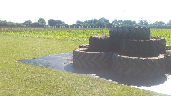 Bishops Stortford, UK: Tyre Mountain - Children's Play Area