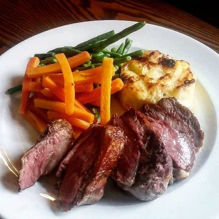 Ashbourne, UK: Lamb rump.