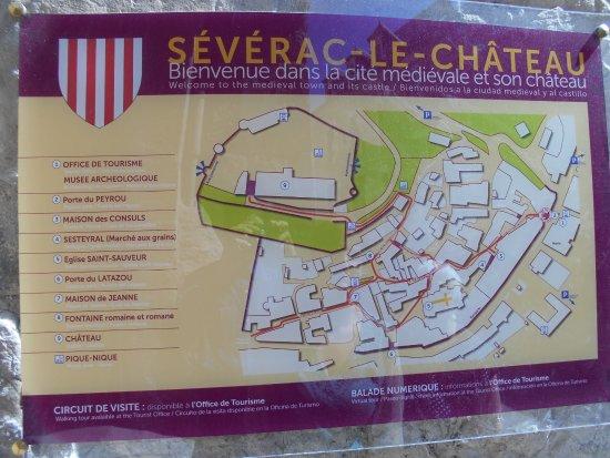Severac-le-Chateau, ฝรั่งเศส: Plan du village;