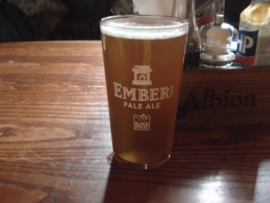 The Albion Pub: One of the guest ales