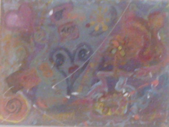 Anglesea Art House:  Original Canvas that I painted. [January 2016]