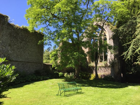 Walsingham, UK: The ruined refectory, a place to sit quietly in the sunshine