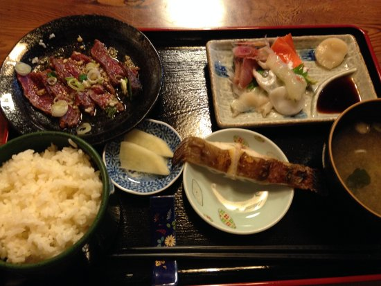 Monbetsu, Japón: マル得定食 \1000-