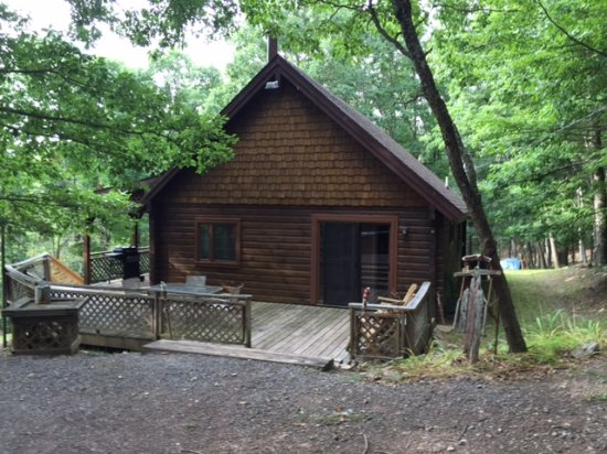 Berkeley Springs, Virginia Occidental: View of cabin as you pull up in driveway