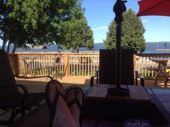 Temiskaming Shores, Kanada: View from the deck area