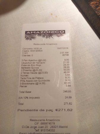 restaurante amazonico precio por persona
