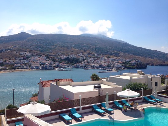 Batsi, Grecja: View from our room