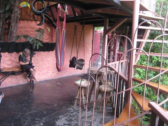 TreeTop House: balcony outside mid-level rooms