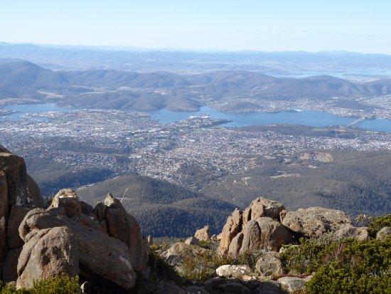 Mount Wellington: Fabelachtig mooi uitzicht op Hobart en omgeving.
