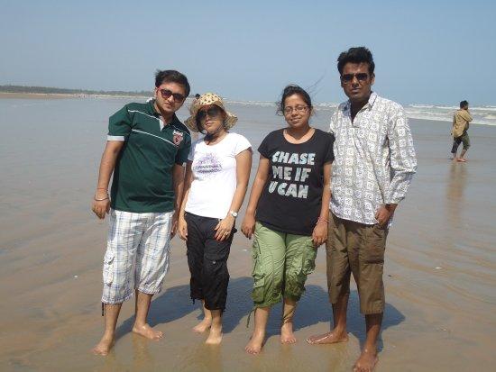 Me With My Office Colleague Tajpur Beach Bild Von Tajpur