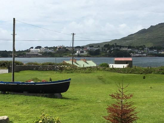View of Roundstone from B&B and donkeys!