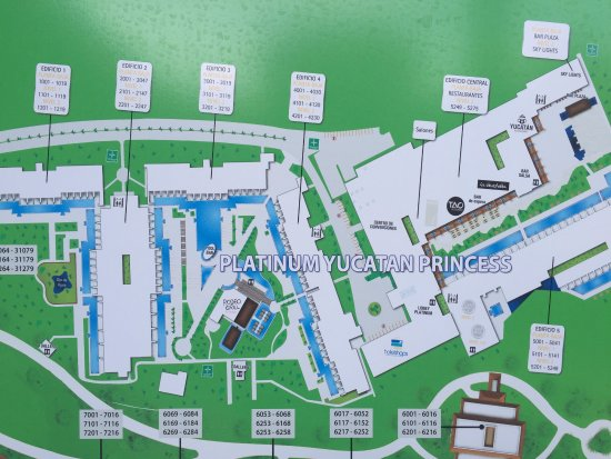 Map of the resort July 2016 - Picture of Platinum Yucatan ...