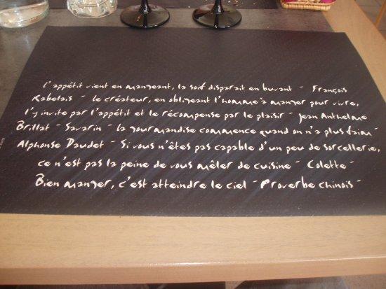 Missillac, France: le set de table