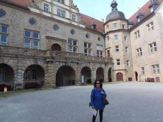 Weikersheim, Deutschland: Castelo de Weikershéim-Pátio interno