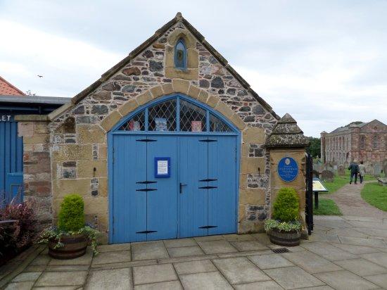 Coldingham, UK: The 'Hearse House' - now a bookshop