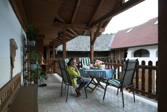 Gaudihof Kaltenbrunner: area comune per mangiare, stendere, rilassarsi