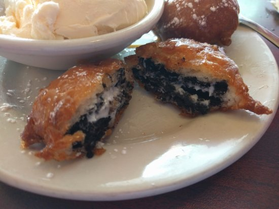 Freeport, IL: Inside of one of the fried oreos!