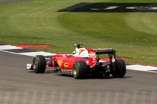 Silverstone, UK: Ferrari out on track
