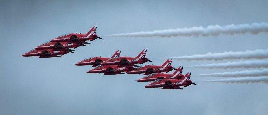Silverstone, UK: Red Arrows