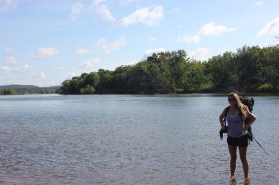 Boscobel, WI: Wading in the River