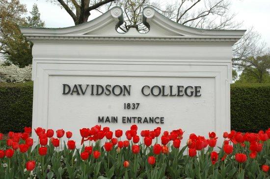 Main entrance to Davidson College