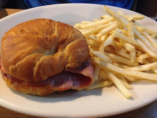 Meadows of Dan, VA: Ham & Pimento cheese sandwich w/fries