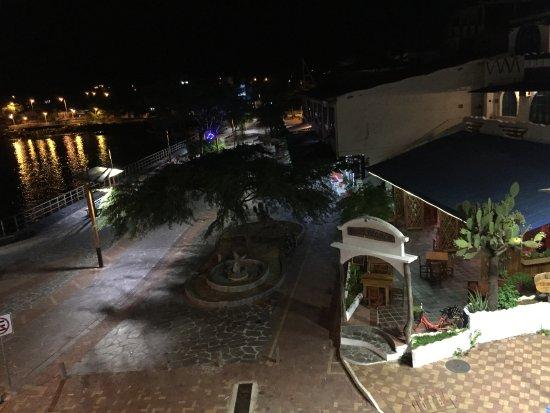 Puerto Baquerizo Moreno, Équateur : view from balcony