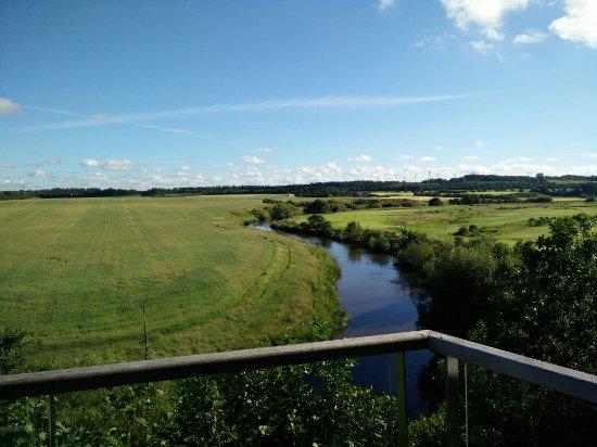 Holstebro, Denmark: The view from the balcony.
