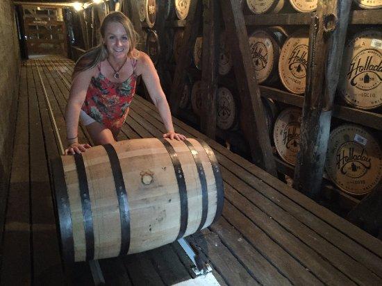 Weston, MO: Barrel storage barn